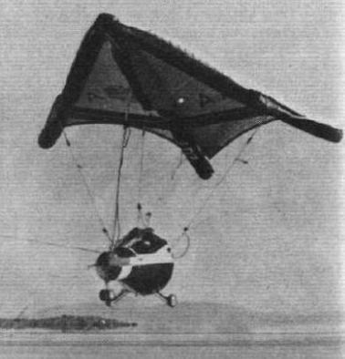 Der Rogallo-Flügel, Schwarzweiss-Foto