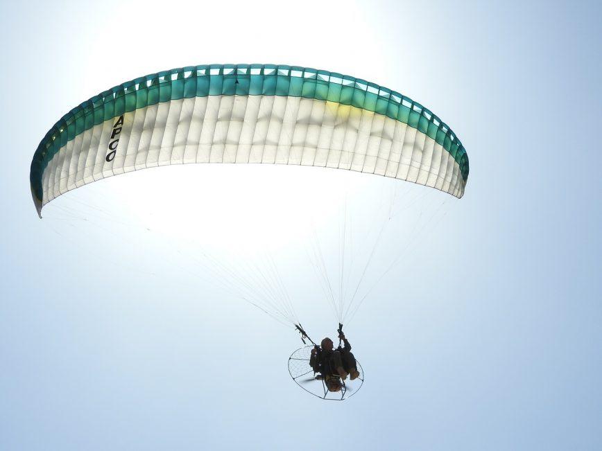 Angetriebenes paragliding