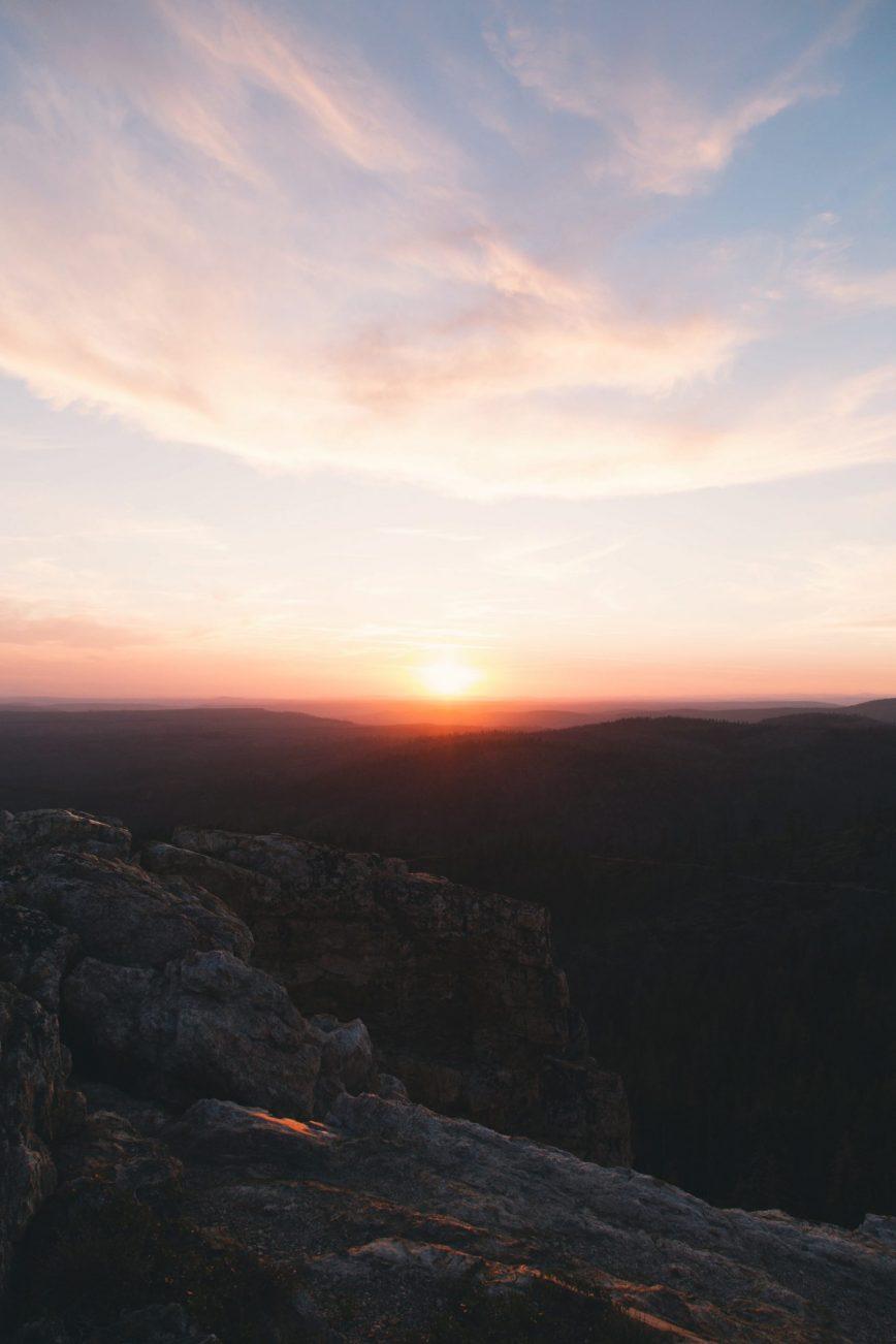 Ein Sonnenuntergang in den USA