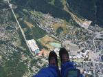 Paragliding Fluggebiet Europa » Frankreich » Rhone-Alpes,Planpraz,Landeplatz in Chamonix (Bildmitte)