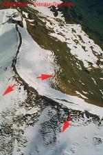 Paragliding Fluggebiet Europa » Schweiz » Bern,Planplatten,Startplätze aus der Luft. (Endstation der Gondelbahn links oben)