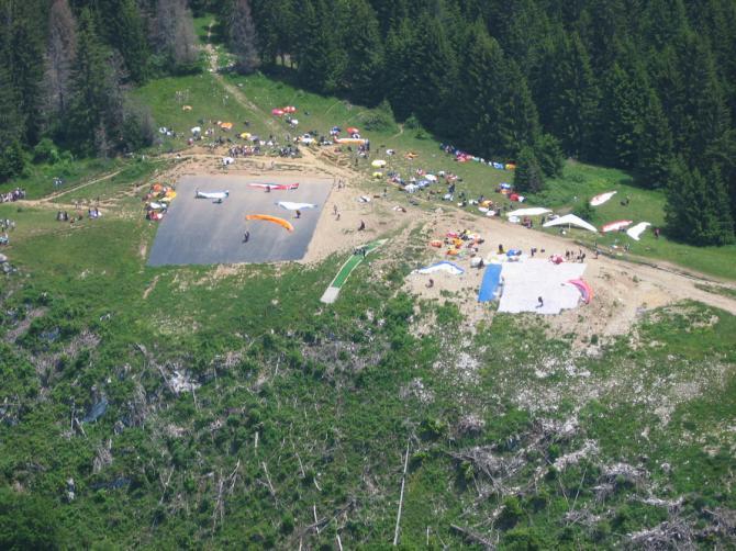 Startplatz von oben: Rush-hour.  Foto: Parastep Juni 2005