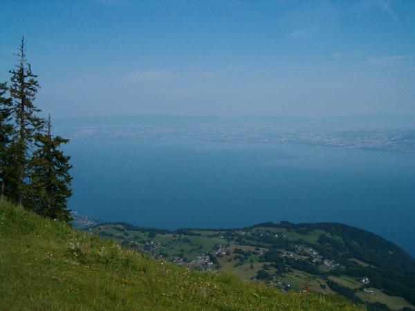 Blick auf den See vom Startplatz aus