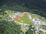 Paragliding Fluggebiet Europa » Schweiz » Wallis,Fiesch - Kühboden/Eggishorn,Landeplatz in Fiesch Achtung (seit 2008): LZ verkleinert! um die rote Fläche -betrifft va HG's...