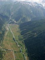 Paragliding Fluggebiet Europa » Schweiz » Wallis,Fiesch - Kühboden/Eggishorn,Blick Richtung Talende vor dem Grimsel.