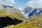 Paragliding Fluggebiet Europa » Schweiz » Wallis,Fiesch - Kühboden/Eggishorn,Der Gletscher durchschneidet den Fels, wie das heisse Messer die Butter