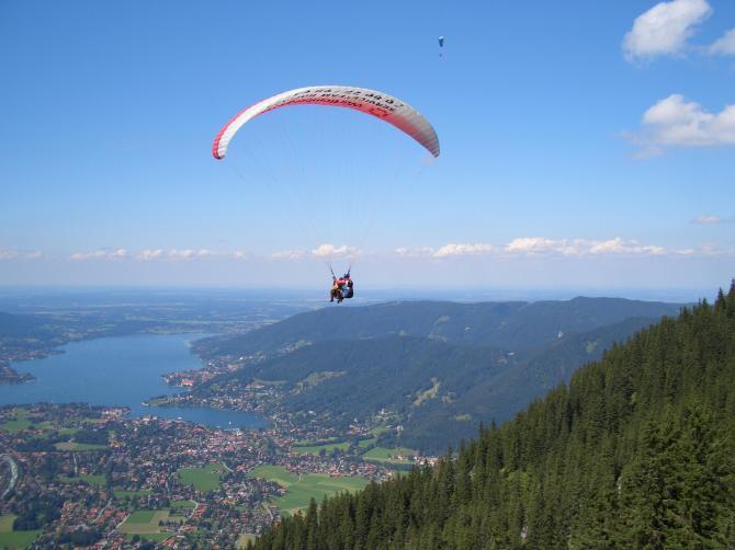 Tobi (16) bei seinem 1. Tandemflug am Wallberg mit Wotschä