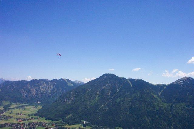 Blick vom nördlich gelegenen Ringspitz zurück auf den Wallberg