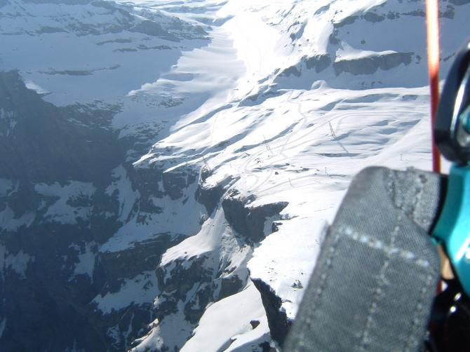 bergstation gemmi.an diesem tag wäre es möglich gewesen nach kandersteg zu fliegen.