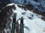 Paragliding Fluggebiet Europa » Schweiz » Wallis,Rinderhütte (Horlini Alpe Oberu),Startplatz Rinderhütte direkt neben der Bahn (im Winter präpariert und abgesperrt).  Landeplatz unbedingt vorher ansehen (bei Talstation Sessellift).