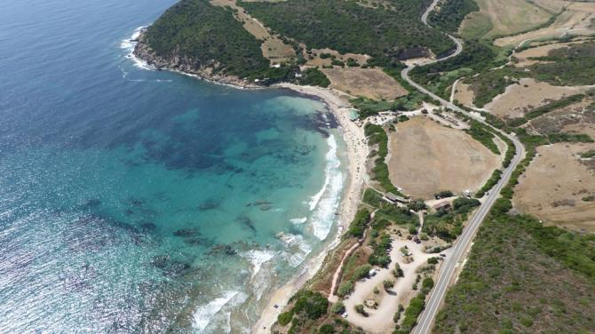 Landeplatz am Strand