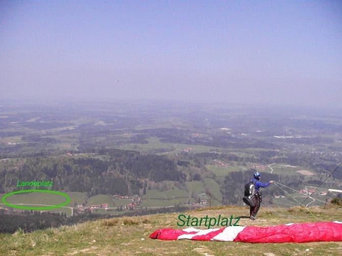 Blomberg-Start-Landeplatz Richtung Nord
