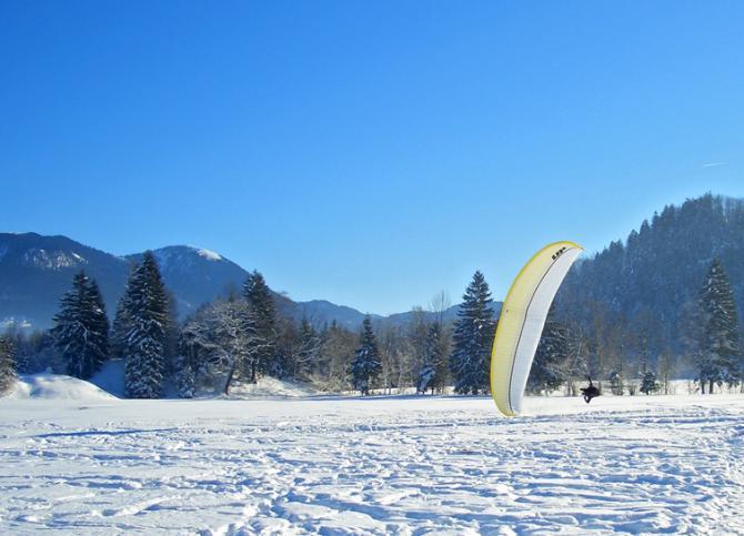Der winterliche Landeplatz. wk