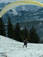 Paragliding Fluggebiet Europa » Schweiz » Schwyz,Rotenfluh  /  Rotenflue,sw - startplatz im november 2003