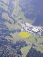 Paragliding Fluggebiet ,,LZ unmittelbar bei der Talstation und Parkplatz