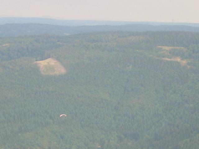 Der Startplatz aus der Luft gesehen Foto Bernd Schwarz