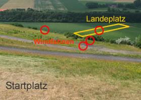 Landeplatz Halde Norddeutschland