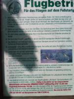 Paragliding Fluggebiet Europa » Deutschland » Baden-Württemberg,Neidlingen - Gemarkung Aurach,Schild mit Flugregeln, bitte beachten da Einflugsektor vom Flughafen Stuttgart!!