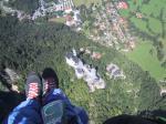 """Paragliding Fluggebiet Europa » Deutschland » Bayern,Tegelberg,""""Königlicher Flug"""" über Neuschwanstein"""