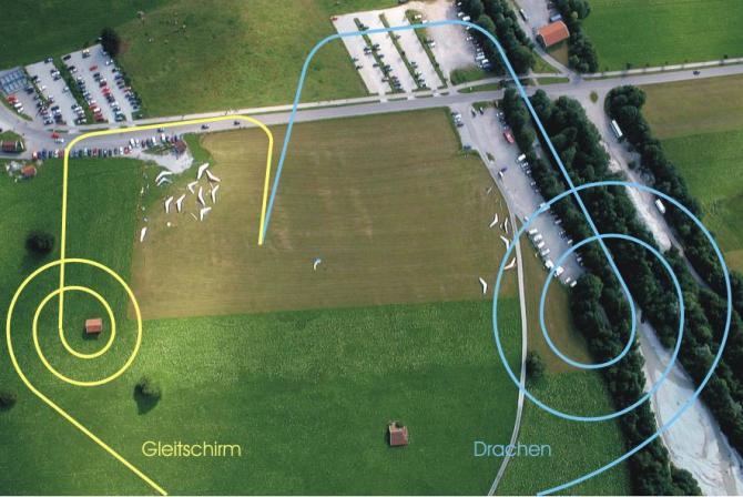 Landeplatz Tegelberg mit Landeinteilung. Bild von Manfred Laudahn. (Manni)