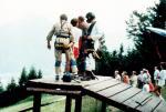 Paragliding Fluggebiet Europa » Deutschland » Bayern,Unternberg,Drachenfliegen an der Hochplatte 07/1986: Einweisung durch Schorsch Steffel († 11/2004)
