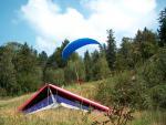 Paragliding Fluggebiet Europa » Deutschland » Bayern,Sommerberg,Drachen und Gleitschirm vertragen sich www.dgfc-regental.de