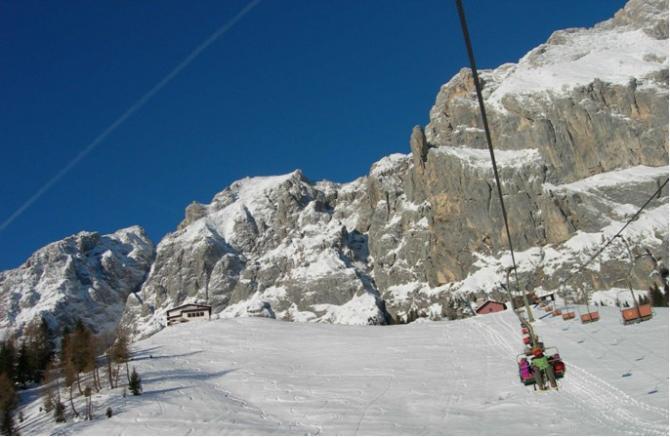 Ein Blick auf den Startplatz beim Rifugio Scarpa! Bei dieser Kulisse jauchzt das Herz!