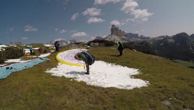 Startvorbereitung am Monte Piana
