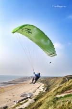 Paragliding Fluggebiet Europa » Niederlande,Zoutelande,Blick am Startplatz zur rechten Flanke der Düne. Gleitschirm LittleCloud Spiruline EAZY