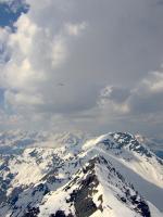 Paragliding Fluggebiet ,,Gsür westlich des Tschenten mit Blick gen Süden.