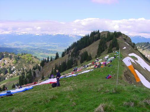 Startplatz Spießer während der Bavarian Open 2001