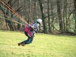 Paragliding Fluggebiet Europa » Belgien,Teuven,frühjahr 2004, Start Janine