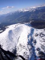 Paragliding Fluggebiet Europa » Österreich » Kärnten,Villacher Alpe / Dobratsch,Gerlitzen SO-Ansicht im April (mehr Fotos gibt's auf www.paragleiten365.net)