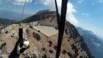Paragliding Fluggebiet Asien » Türkei,Babadag,Baustelle der neuen Seilbahn auf '1700' im Okt'17 -über der lkHand. Bild: HaHA