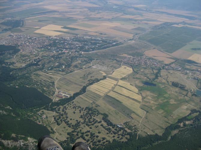 Anflug auf Sopot