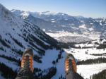 Paragliding Fluggebiet Europa » Österreich » Vorarlberg,Diedamskopf,Ein Abgleiter im Winter