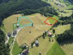 """Paragliding Fluggebiet Europa » Österreich » Salzburg,Berghof/Pihapperspitze,""""Berghof"""" oberhalb Hollersbach  Blau: Top-Landeplatz Rot: Startzone Richtung Nordwest"""