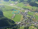 Paragliding Fluggebiet ,,Blau: Landezone Hollersbach (südl. des Flusses)
