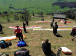 Paragliding Fluggebiet Europa » Schweiz » St. Gallen,Durschlegi - Alp Walau - Mattstock,Startplatz bei Vollbetrieb
