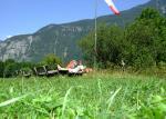 Paragliding Fluggebiet Europa » Österreich » Oberösterreich,Krippenstein,Landeplatz in Obertraun am 16. Juli 2008. Sonst keiner da ...
