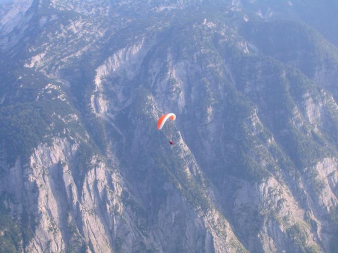 Fluggebiet Krippenstein. Besonders faszinierend ist das steinige Bergmassiv