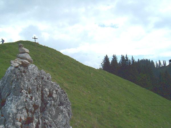 Grasgipfel des Heuberg, Blick nach SO auf den Startbereich.