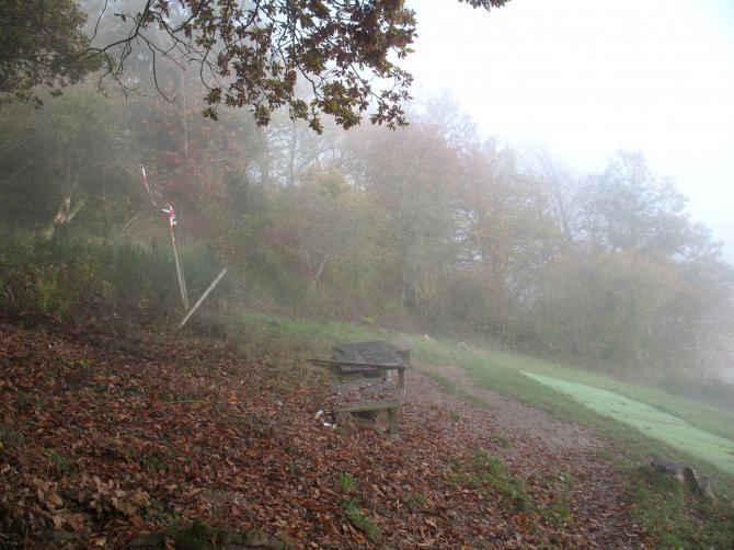 Startplatz im Morgennebel 10/2008