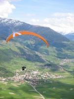 Paragliding Fluggebiet Europa » Italien » Trentino-Südtirol,Watles / Prämajur,Ausblick vom Startplatz Watles Richtung Mals.