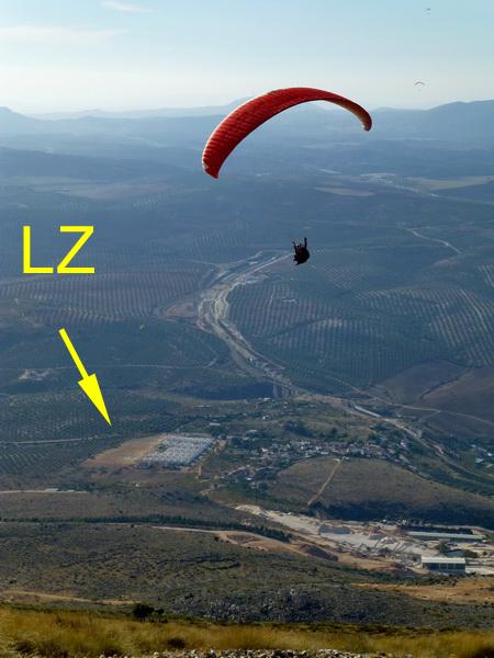 LZ (Venta del Rayo) vom Start aus gesehen
