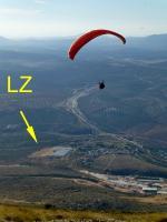 Paragliding Fluggebiet Europa » Spanien » Andalusien,Lucena,LZ (Venta del Rayo) vom Start aus gesehen