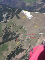 Paragliding Fluggebiet Europa » Schweiz » Graubünden,Fanas-Sassauna,Fanas -Übersicht über Startplätze: A - Hörnli B - Eggli (auch Delta) C - Alternative im Frühling