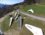 Paragliding Fluggebiet Europa » Schweiz » Graubünden,Fanas-Sassauna,'Mast 4' - HG-Startplatz