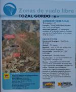 Paragliding Fluggebiet Europa » Spanien » Aragonien,El Grado -aka Tozal Gordo,Infotafel am Start