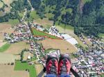 Paragliding Fluggebiet ,,Der nicht ganz einfache Landeplatz neben dem Schwimmbad.